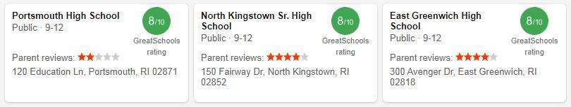 Best High Schools in Rhode Island