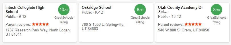 Best High Schools in Utah