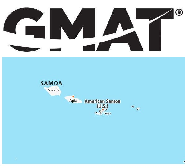 GMAT Test Centers in American Samoa