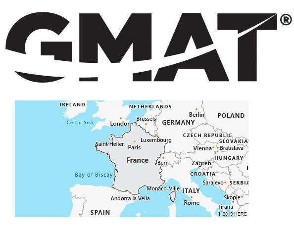 GMAT Test Centers in France