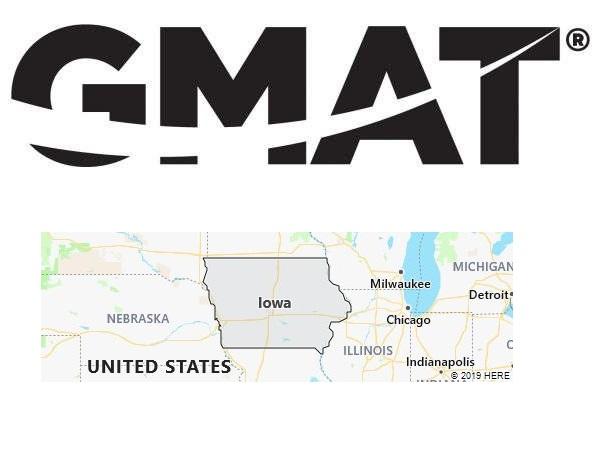 GMAT Test Centers in Iowa