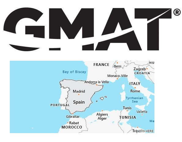GMAT Test Centers in Spain