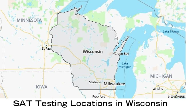SAT Testing Locations in Wisconsin