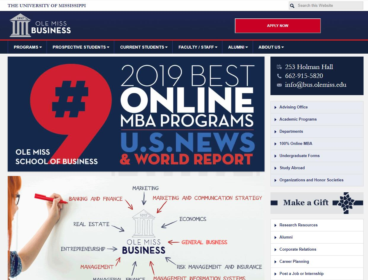School of Business Administration at University of Mississippi