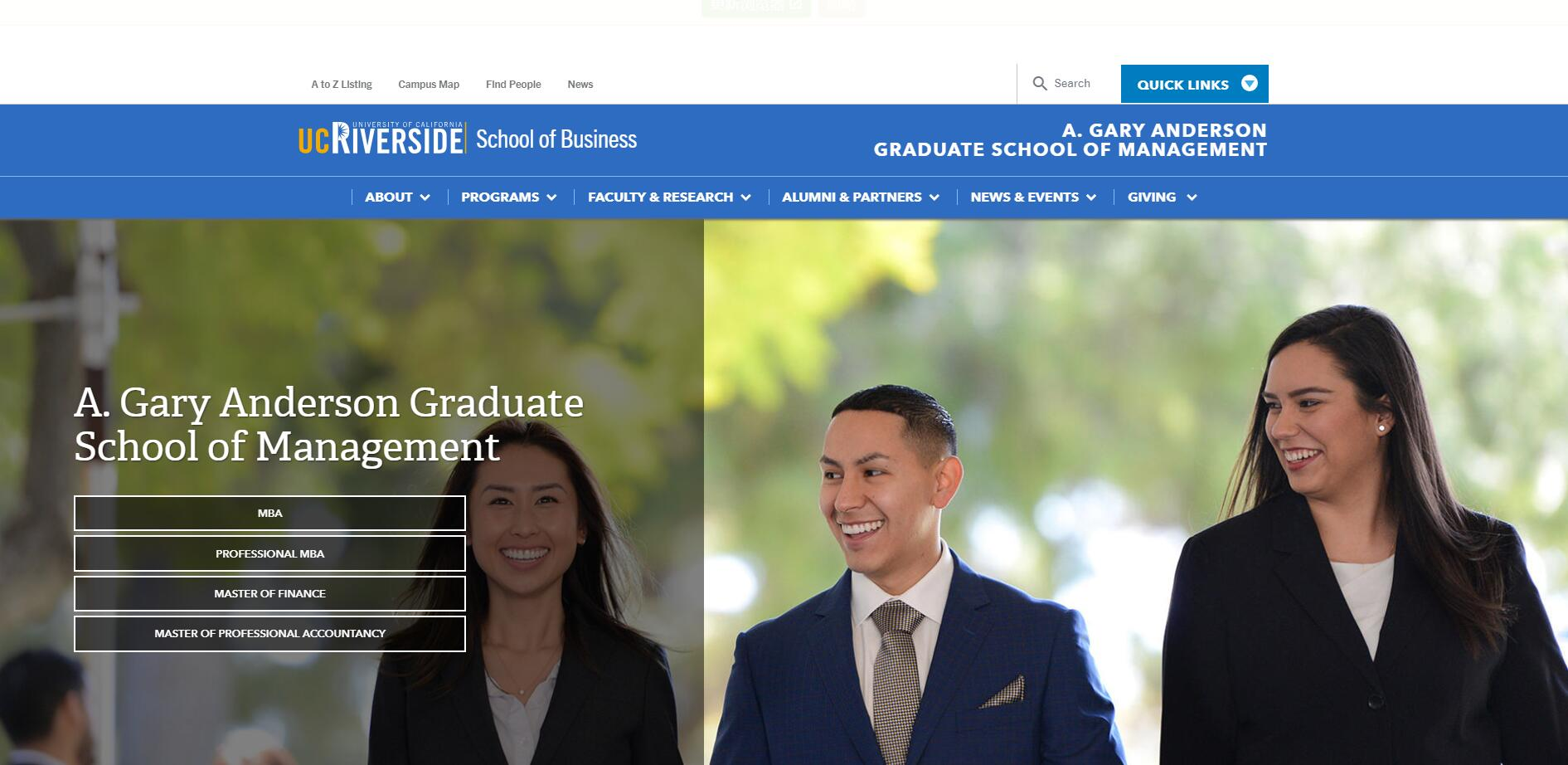The A. Gary Anderson Graduate School of Management at University of California–Riverside
