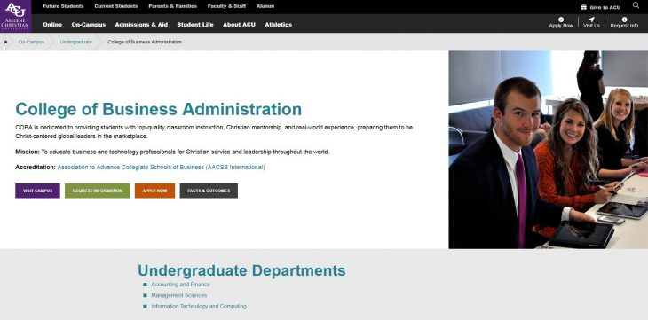 The College of Business Administration at Abilene Christian University