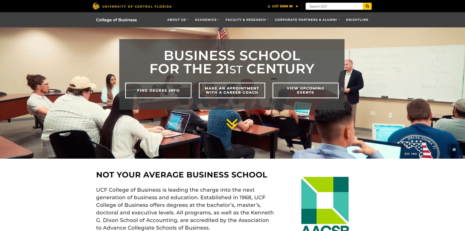 The College of Business Administration at University of Central Florida