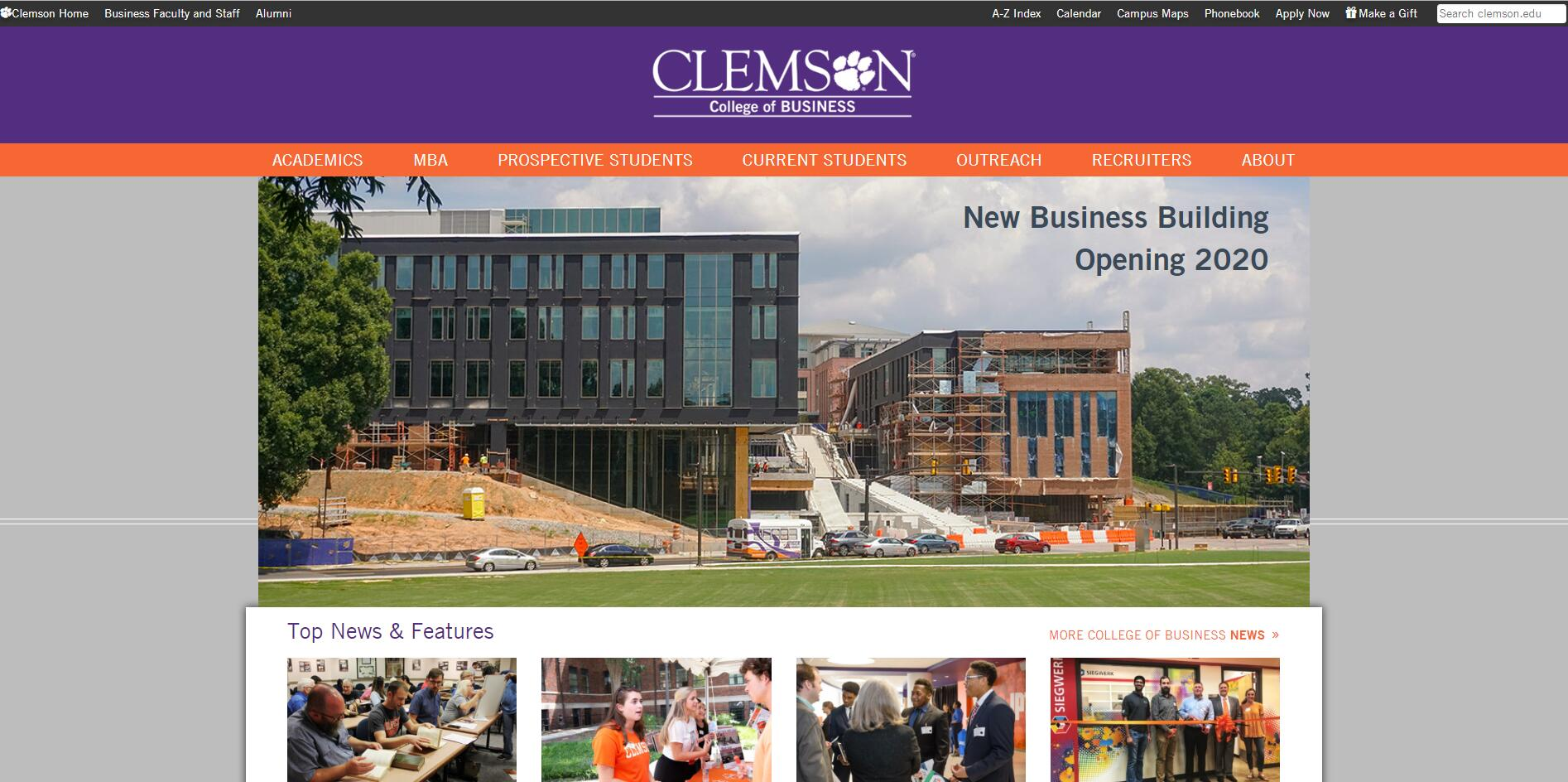 The College of Business and Behavioral Science at Clemson University