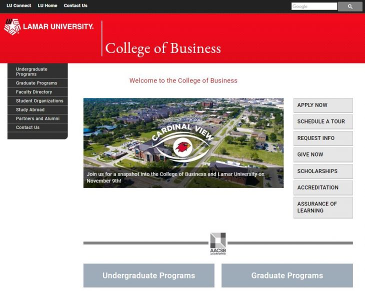 The College of Business at Lamar University