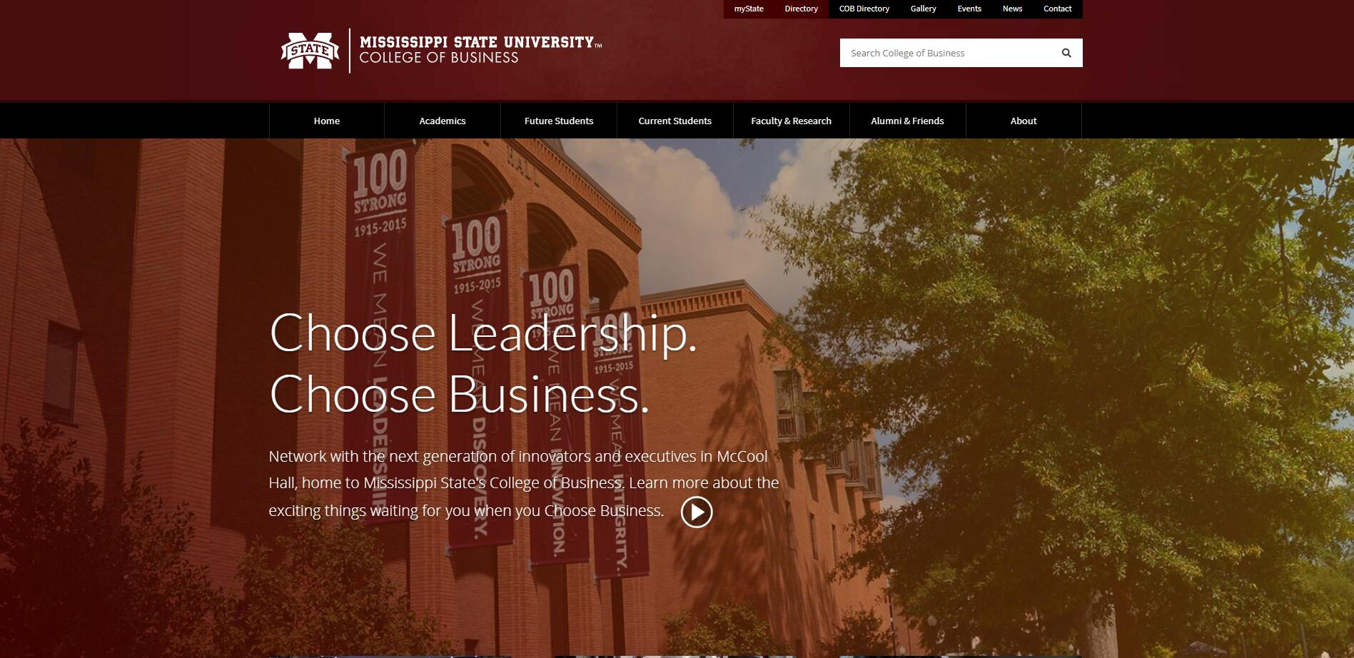 The College of Business at Mississippi State University