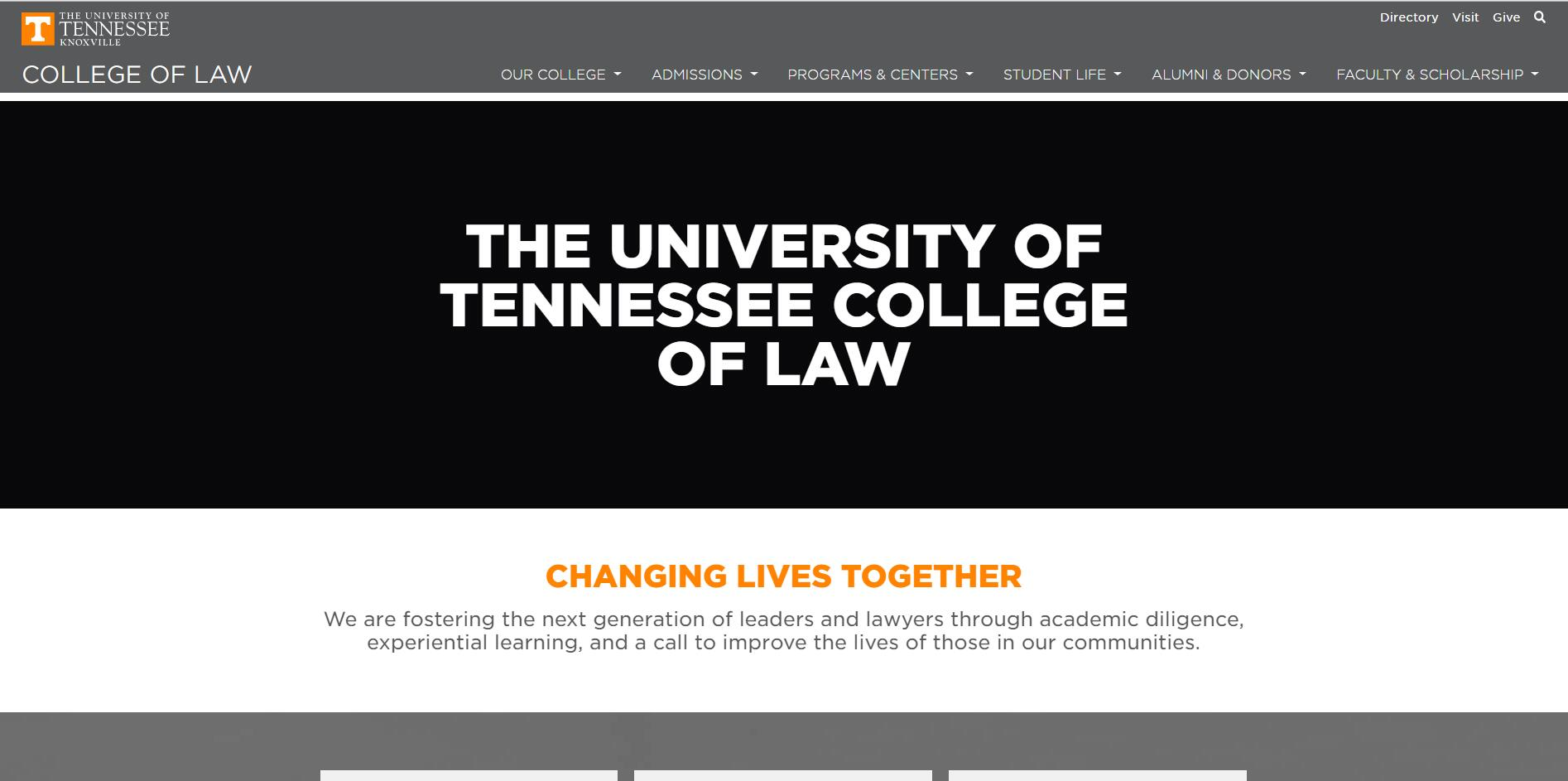 The College of Law at University of Tennessee