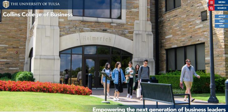The Collins College of Business Graduate Programs at University of Tulsa