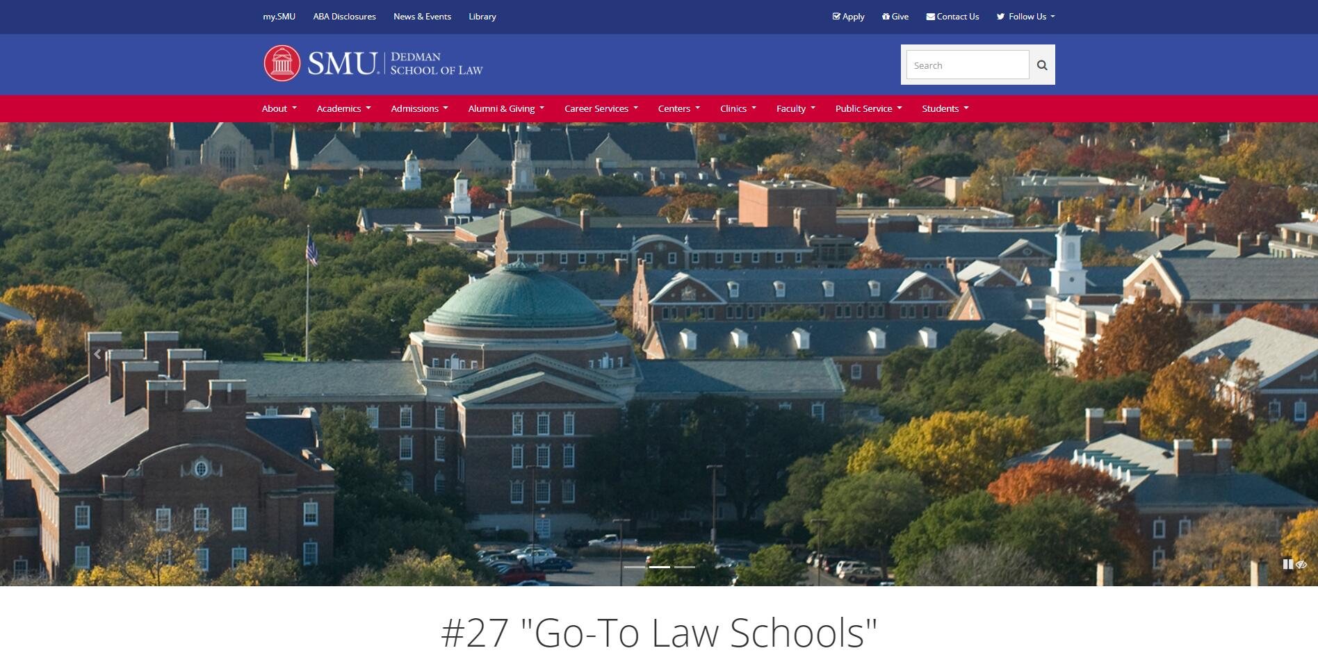 The Dedman School of Law at Southern Methodist University