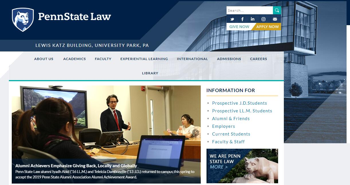 The Dickinson School of Law at Pennsylvania State University--University Park