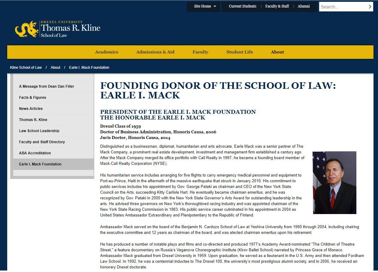 The Earle Mack School of Law at Drexel University