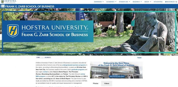 The Frank G. Zarb School of Business at Hofstra University