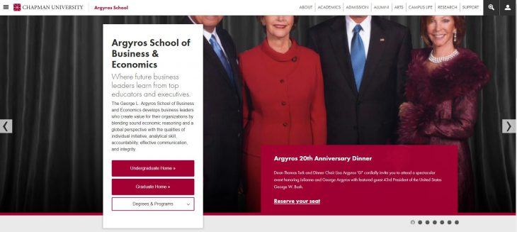 The George L. Argyros School of Business and Economics at Chapman University