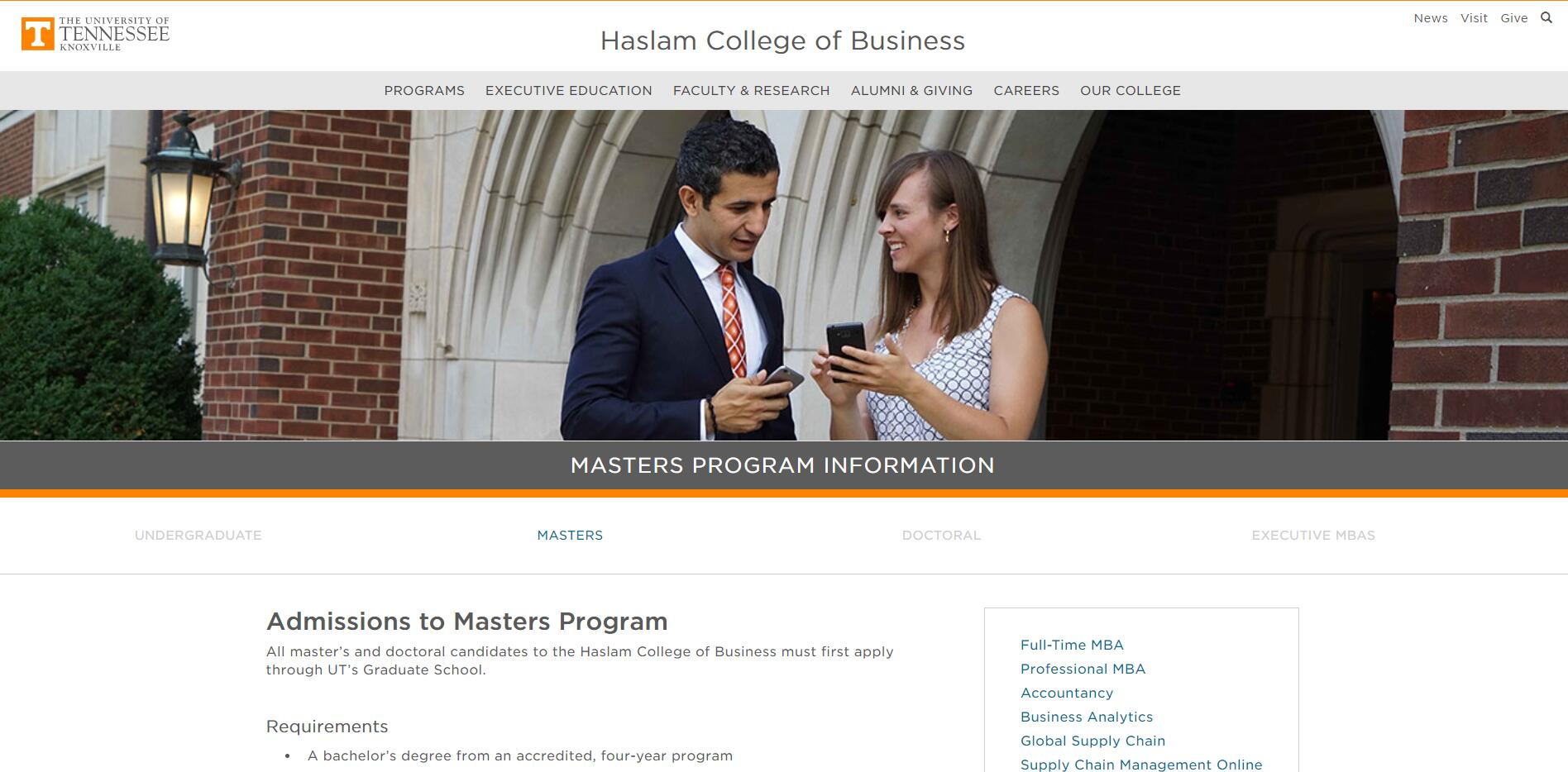 The Graduate School of Business at University of Tennessee