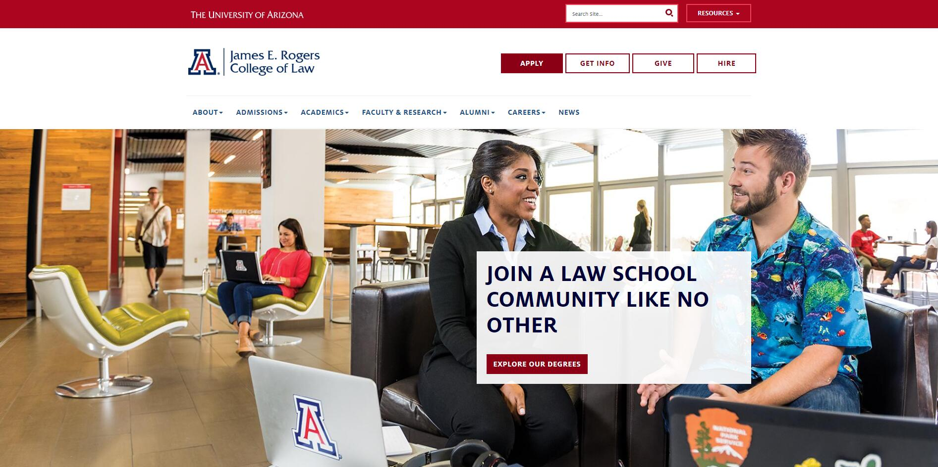 The James E. Rogers College of Law at University of Arizona