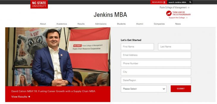 The Jenkins Graduate School of Management at North Carolina State University--Raleigh