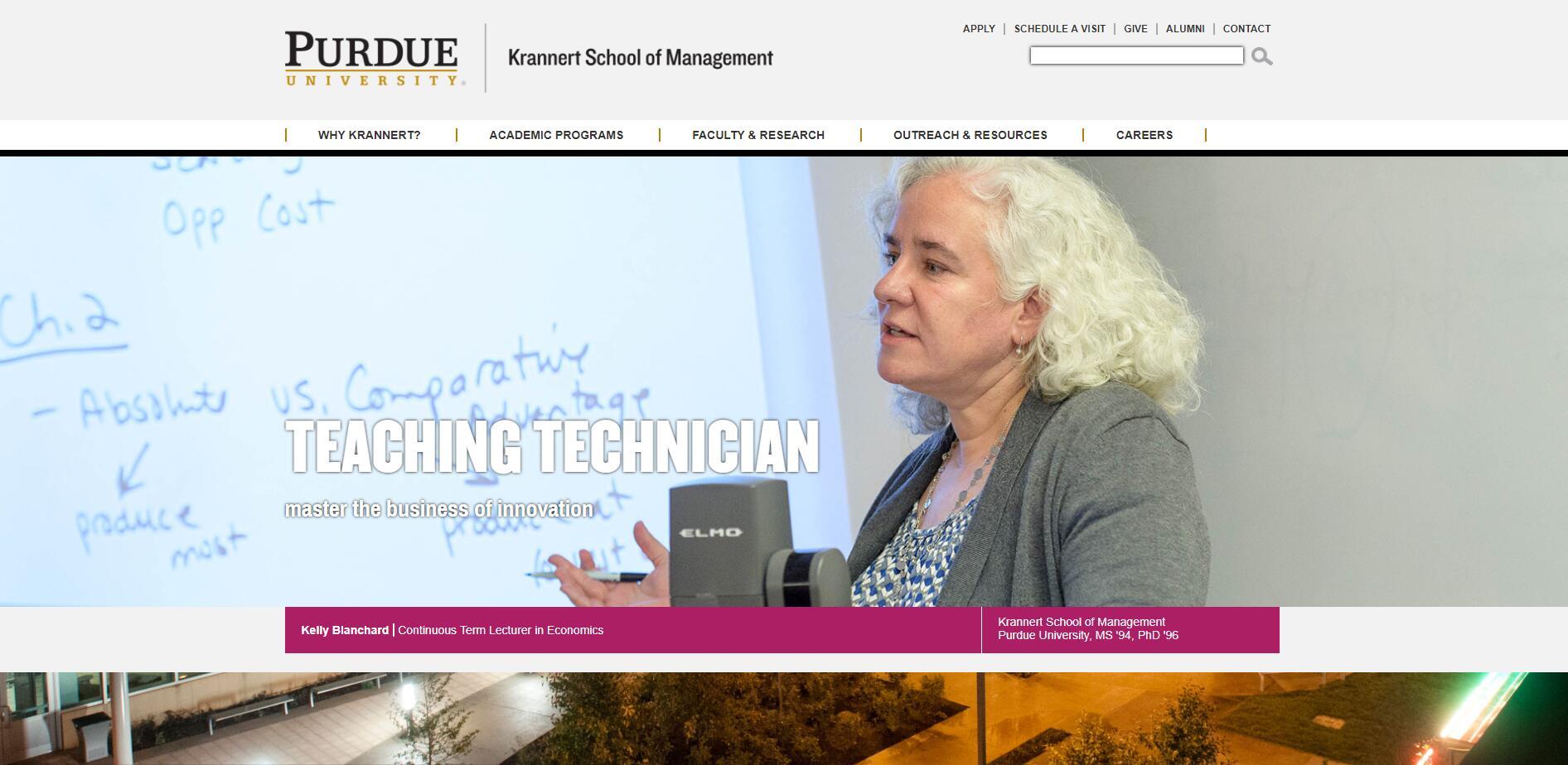 The Krannert School of Management at Purdue University–West Lafayette