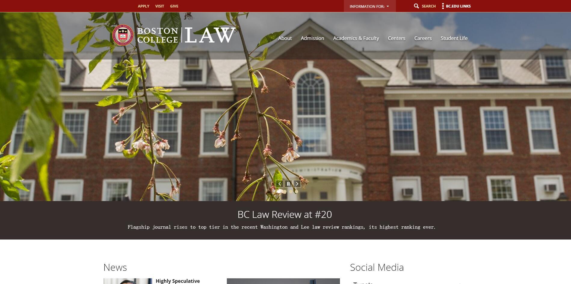 The Law School at Boston College
