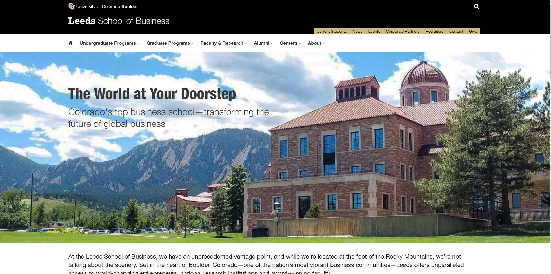 The Leeds School of Business at University of Colorado--Boulder
