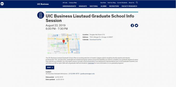 The Liautaud Graduate School of Business at University of Illinois--Chicago
