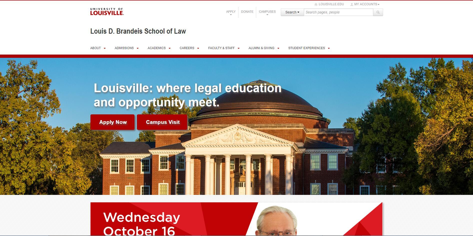 The Louis D. Brandeis School of Law at University of Louisville