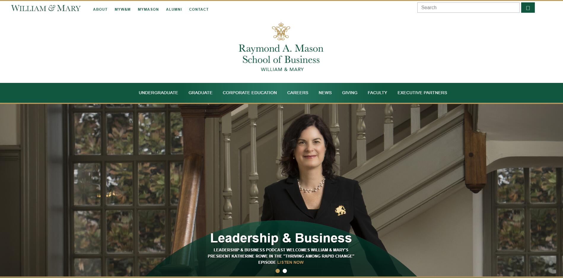 The Mason School of Business at College of William and Mary 2