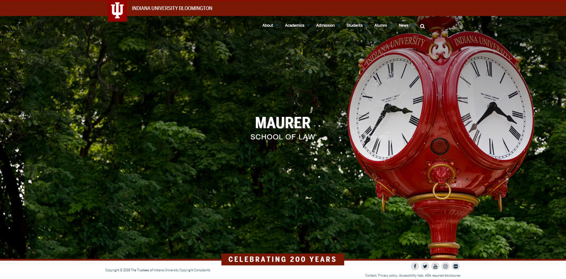 The Maurer School of Law at Indiana University--Bloomington
