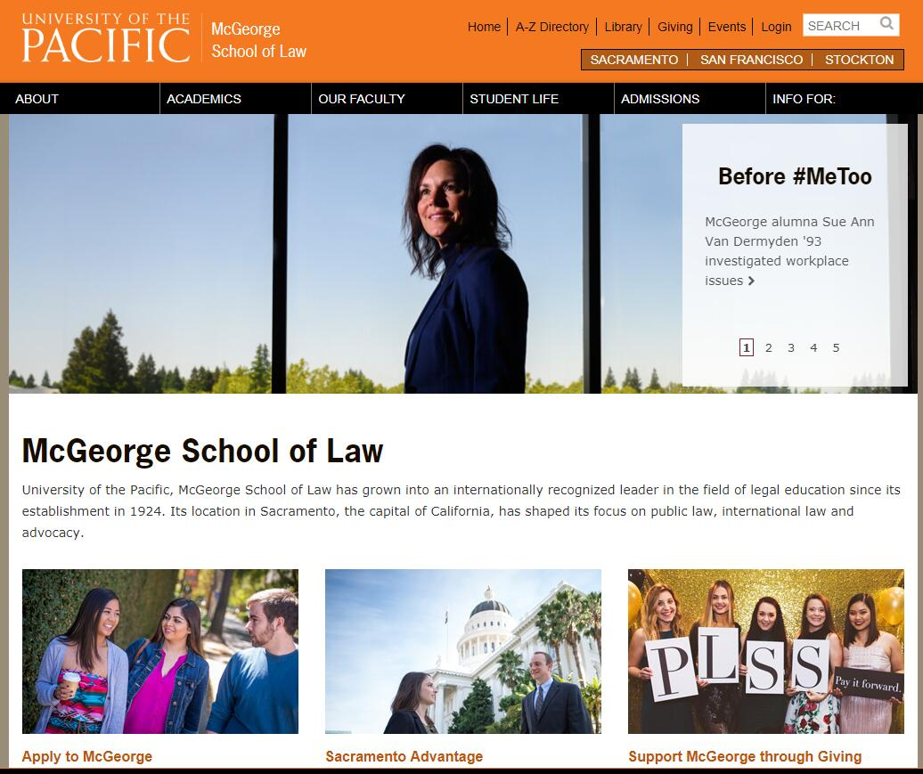 The McGeorge School of Law at University of the Pacific