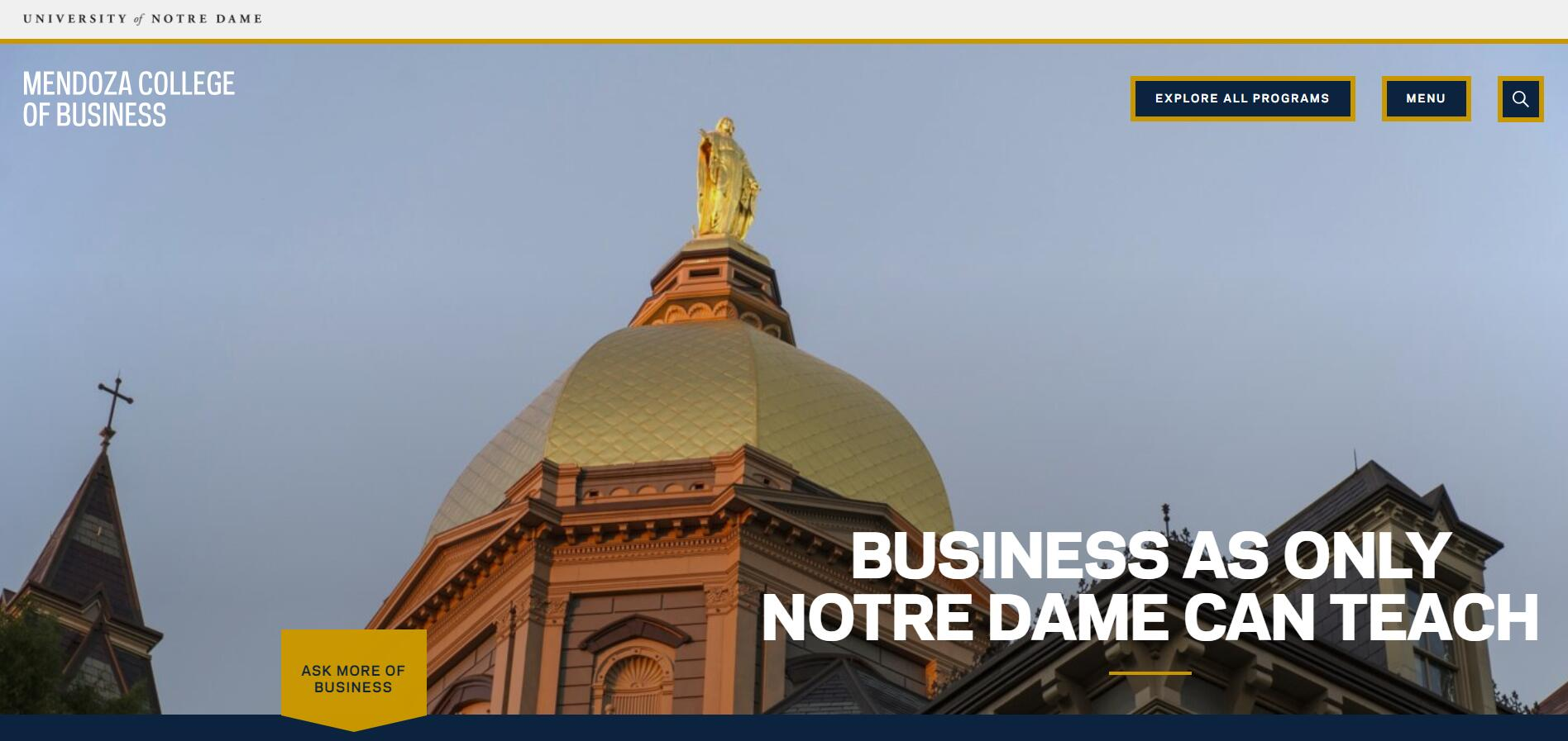 The Mendoza College of Business at University of Notre Dame