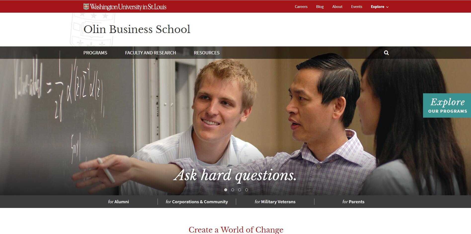 The Olin Business School at Washington University in St. Louis