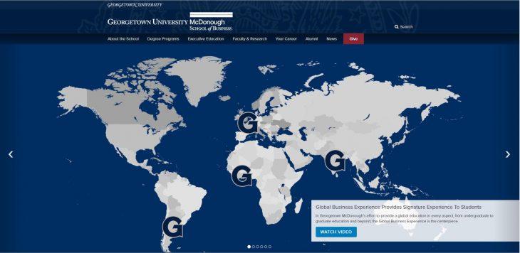 The Robert Emmett McDonough School of Business at Georgetown University