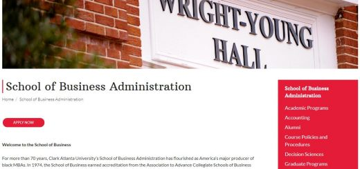 The School of Business Administration at Clark Atlanta University