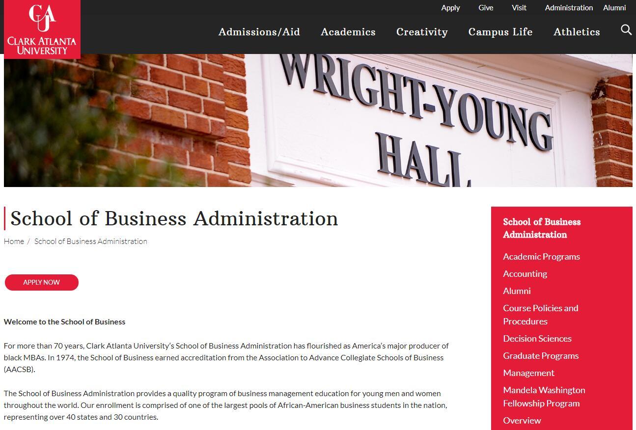 The School of Business Administration at Clark Atlanta University