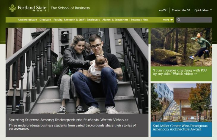 The School of Business Administration at Portland State University