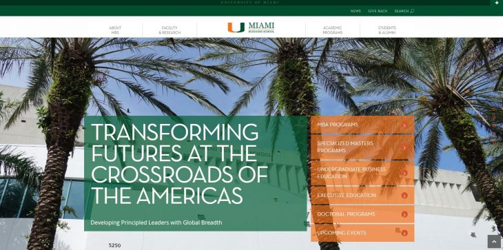 The School of Business Administration at University of Miami