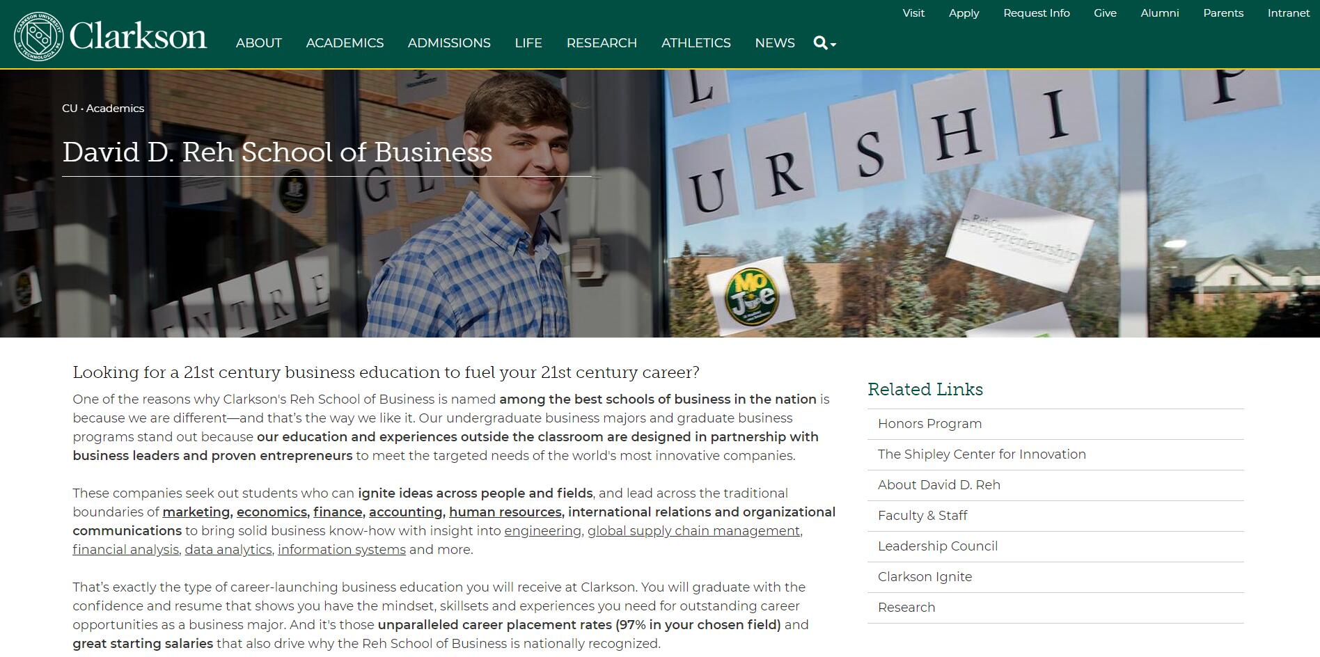 The School of Business at Clarkson University