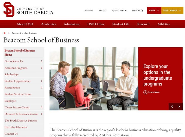 The School of Business at University of South Dakota