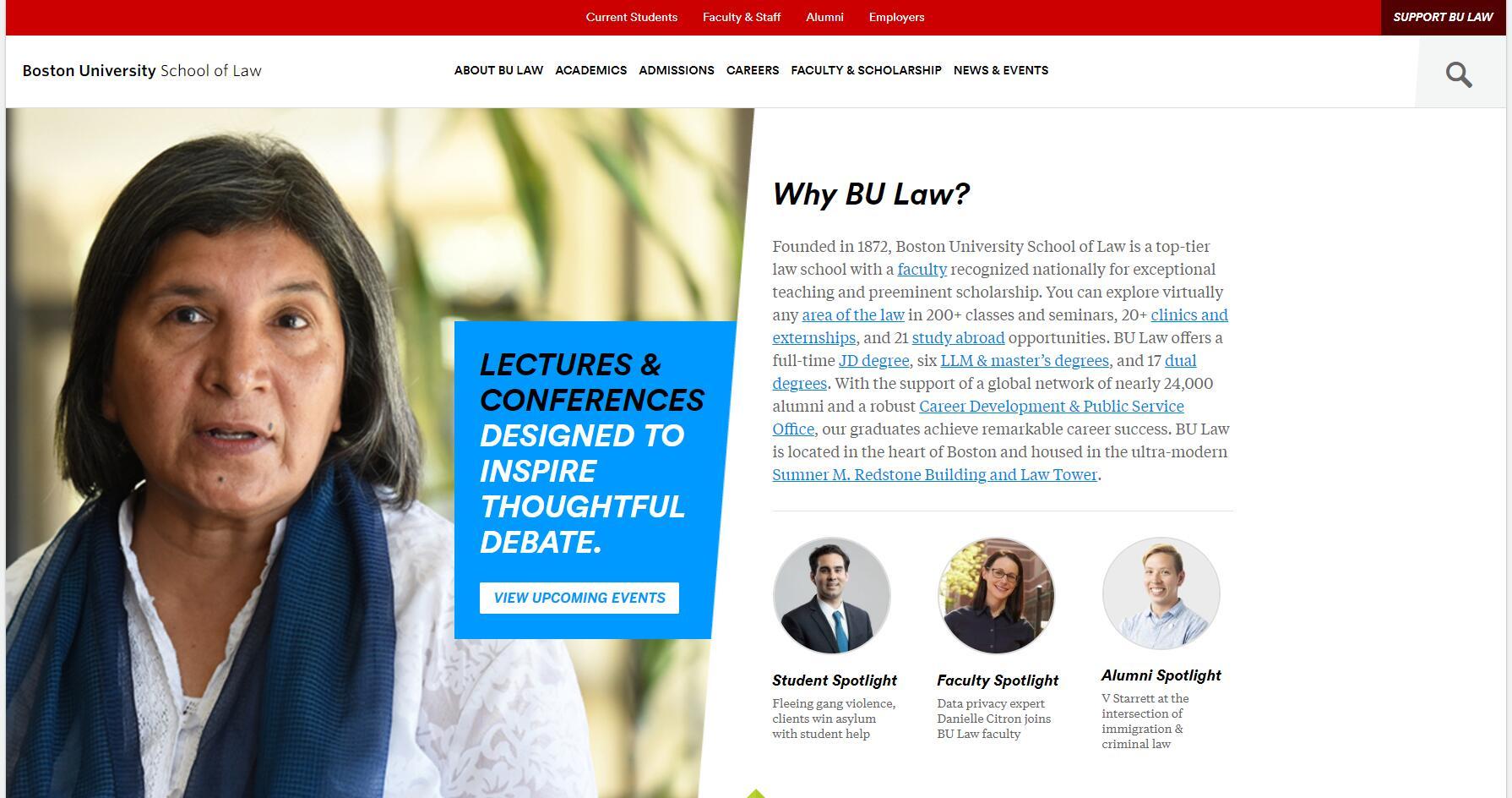 The School of Law at Boston University