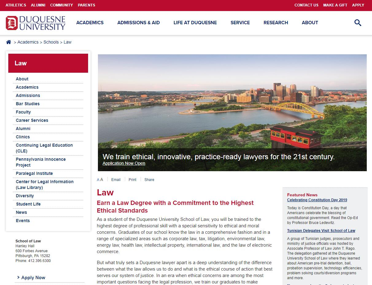 The School of Law at Duquesne University