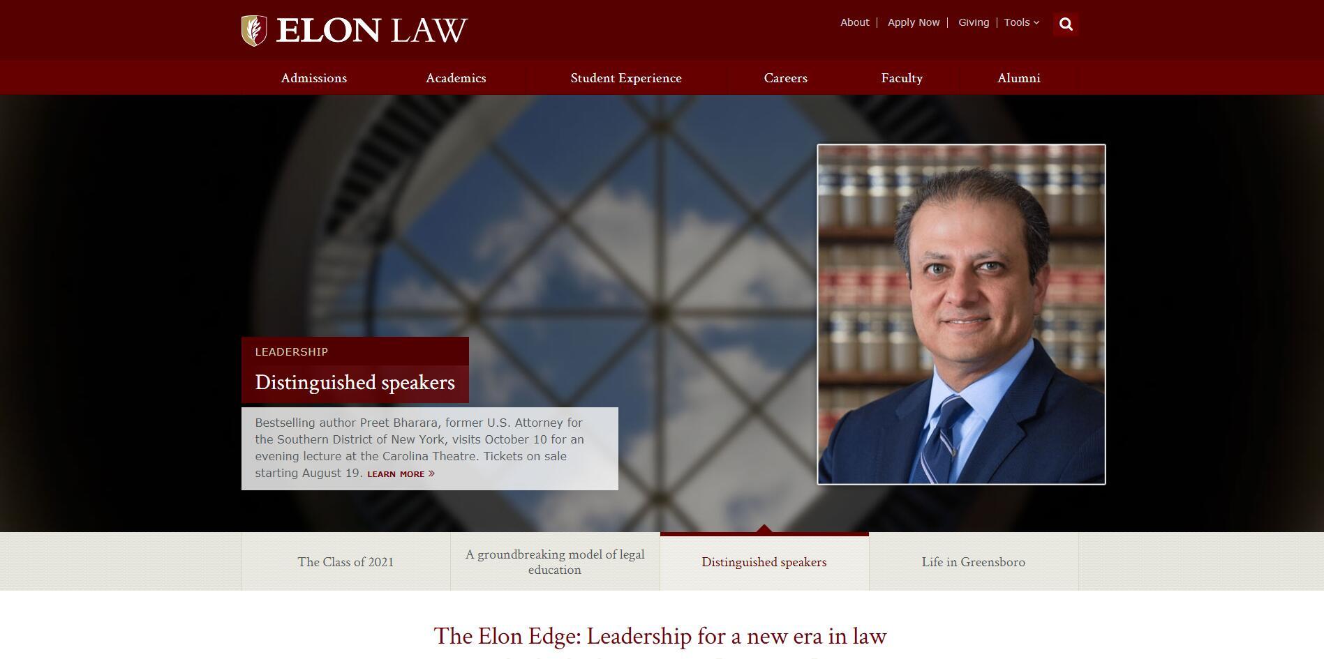 The School of Law at Elon University