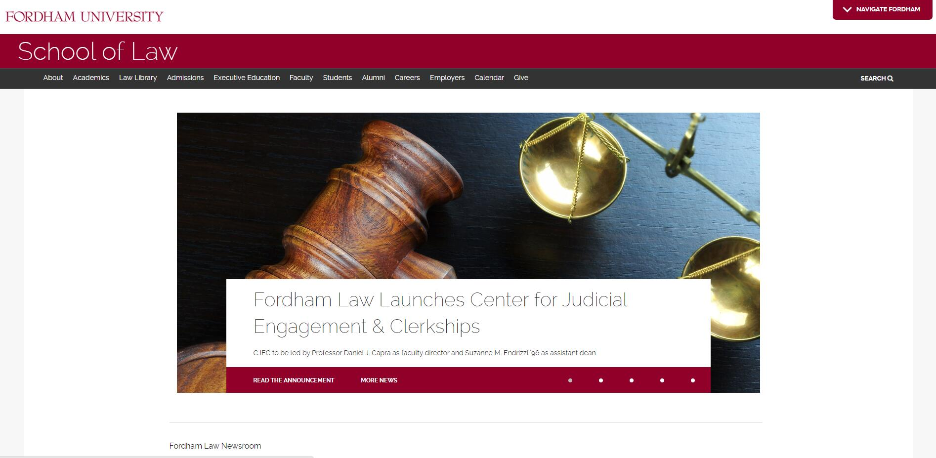 The School of Law at Fordham University