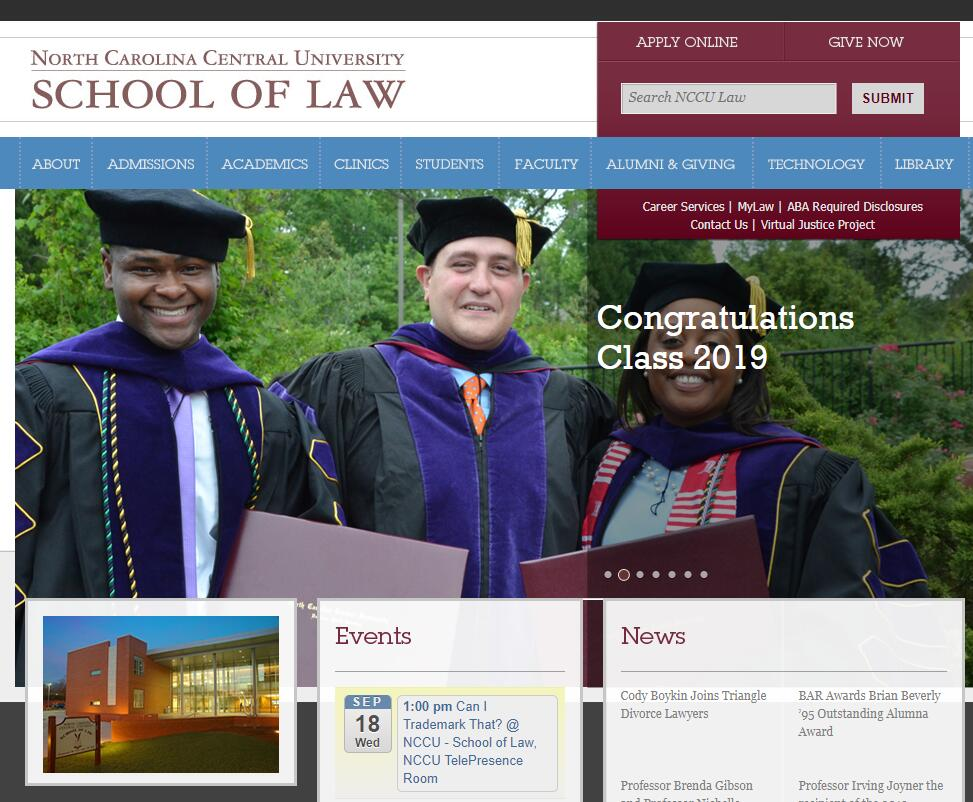 The School of Law at North Carolina Central University