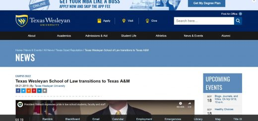 The School of Law at Texas Wesleyan University