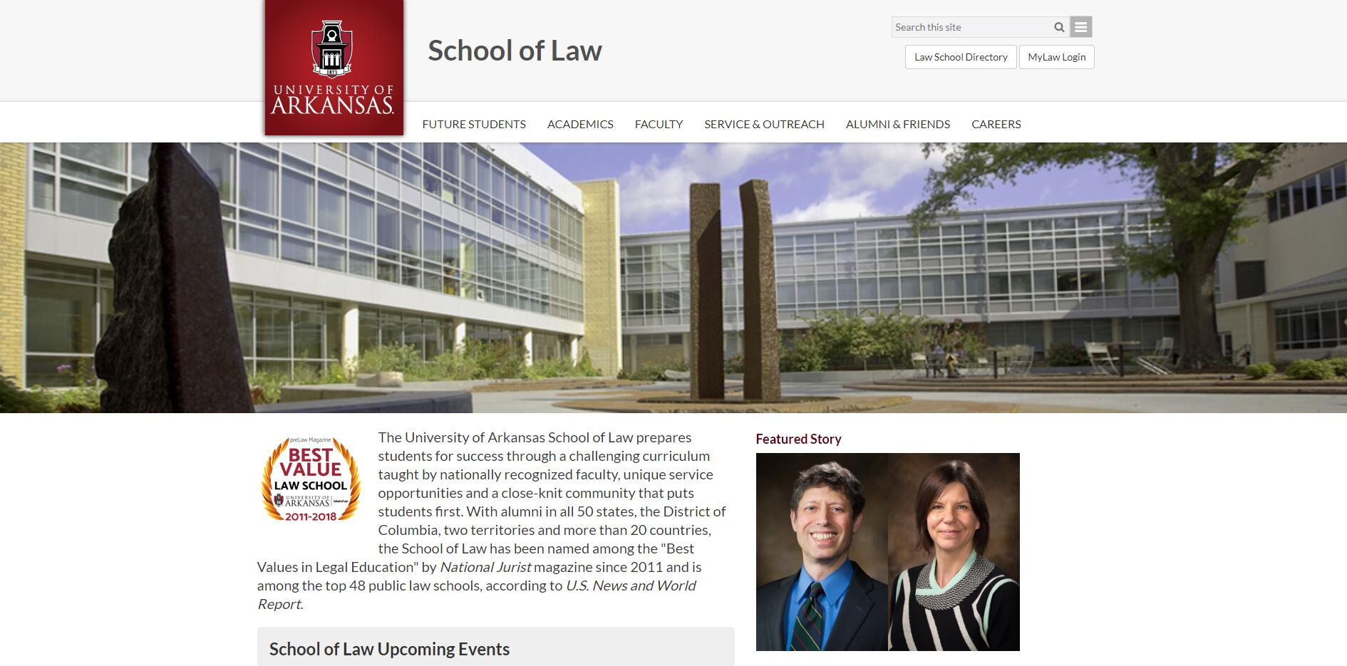 The School of Law at University of Arkansas
