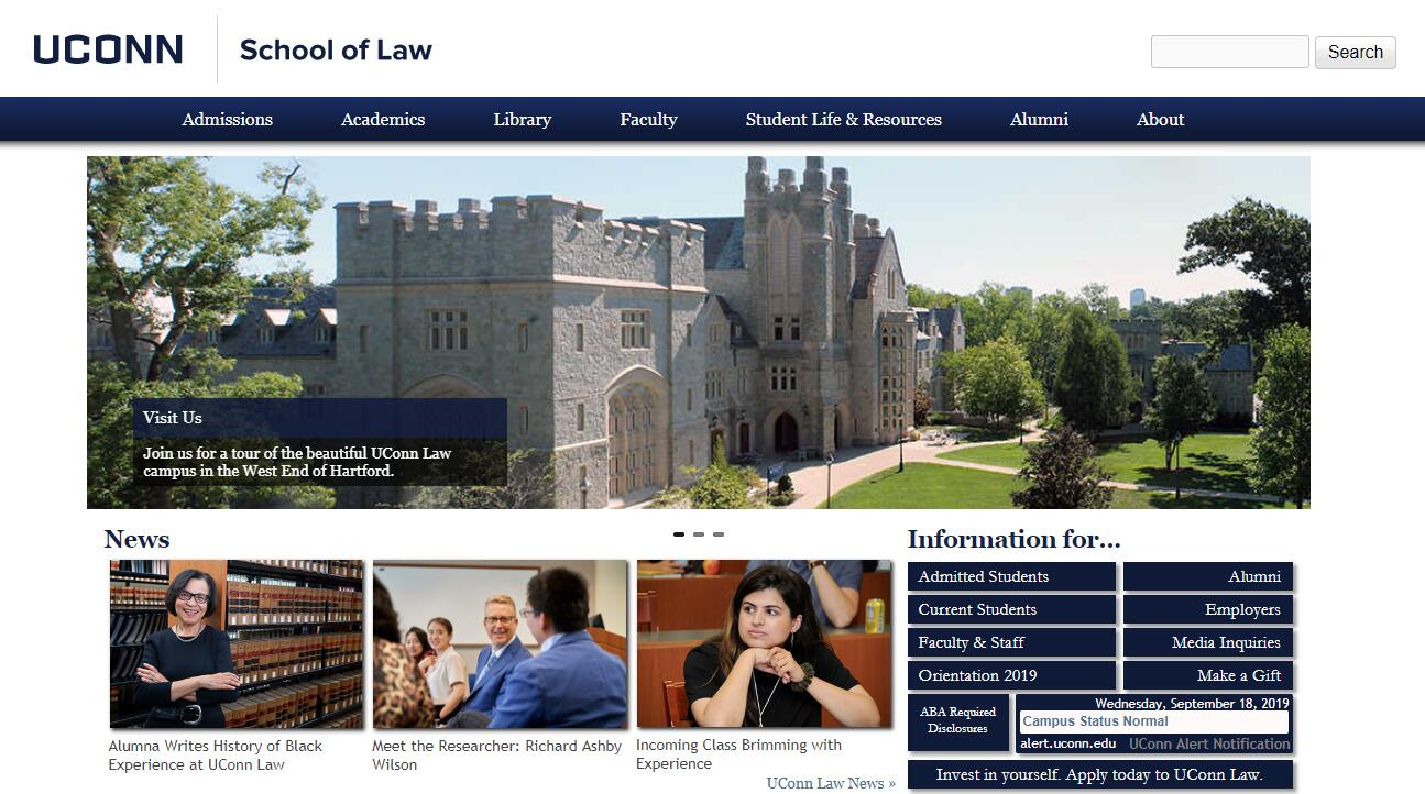 The School of Law at University of Connecticut