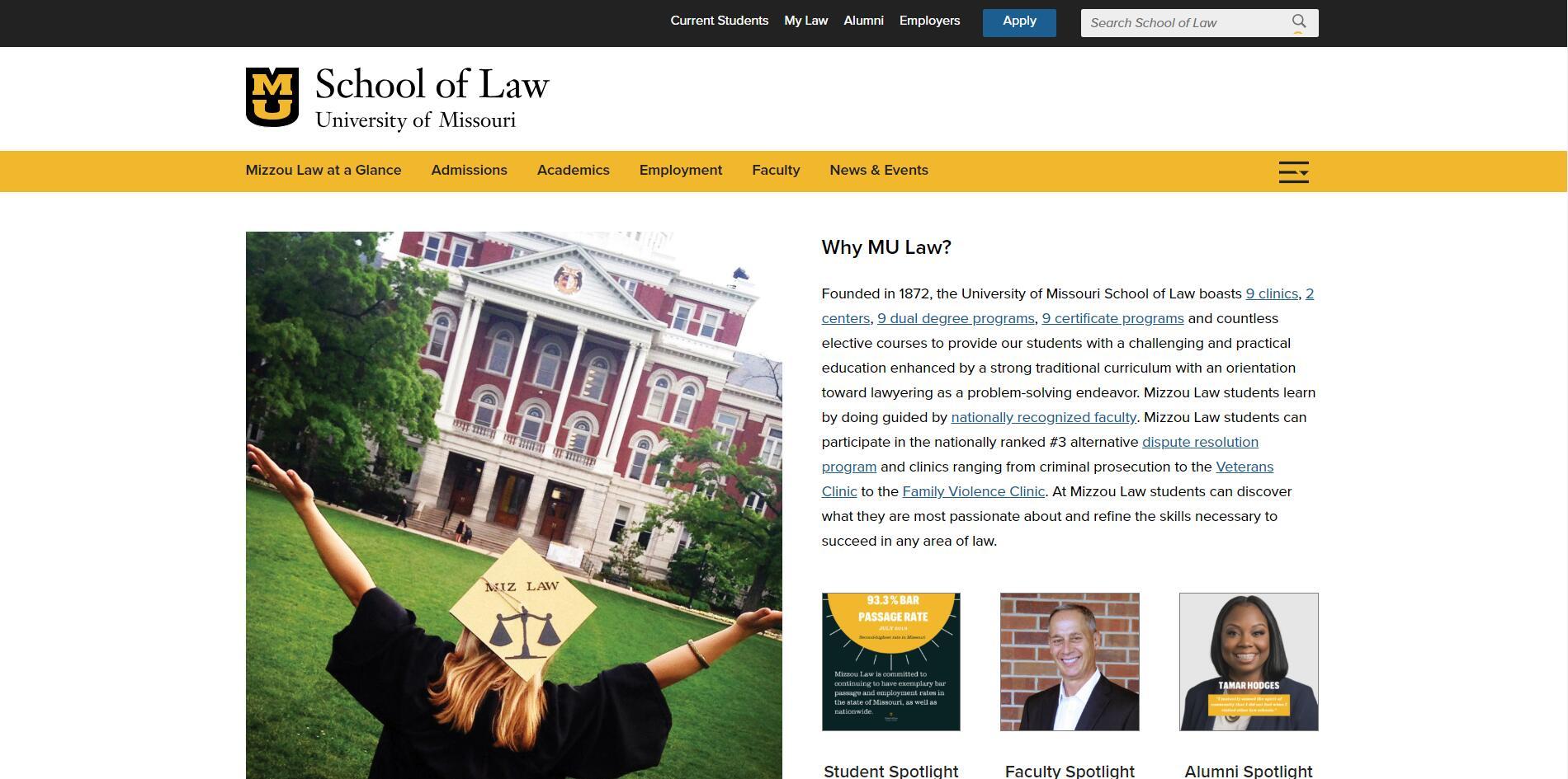 The School of Law at University of Missouri